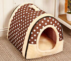 Pet Dog Cat House Warm Cushion Basket Sleeping Bed Kennel with Removable Cover
