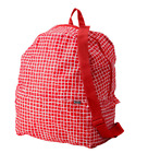 Foldable Folding Bag Ikea Backpack Knalla School Grocery Red Black Light Weight