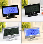 Electric Alarm Clock Sound Control Silent LCD Digital Large Screen Table Multi