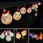 Christmas 10-LED String Light Snowman Fairy Lamp Indoor Lights Party Home Decor