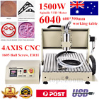 4 Axis 6040 1.5KW CNC Router Engraver USB/Parllel Mill/Engraving Cutting Machine