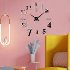 HOT Modern Mute DIY Frameless Large Wall Clock 3d Mirror Sticker Big Watches