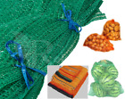 Net Woven Sacks With Drawstring Raschel Bags Mesh Vegetables Logs Wood Garden
