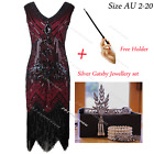 Vintage 20s 1920s Flapper Dress Inspired Gatsby Roaring 20s Costume Size AU 2-20