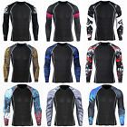 Mens Workout T-shirts Sports Compression Under Base Layer Sportswear Long Sleeve