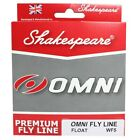 NEW SHAKESPEARE OMNI FLY LINE FLY FISHING WF5/6/7 FREE POST UK