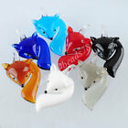 Clever Fox Lampwork Glass Pendant Bead Animal Murano For SP Necklace Cute MBH308
