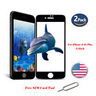 2x Full Coverage Anti-Scratch Tempered Glass Screen Protector For iPhone 6s Plus