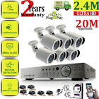 CCTV kit full HD 8CH DVR 1080p 2.4MP Home Security Camera Outdoor Indoor IR-CUT