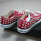 Genuine CONVERSE All-star row-top with studs Sneakers Sheos Red