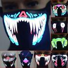 Buy rave clothing - Outdoor Christmas LED Luminous Face Mouse Mask Windproof Winter Cycling Mask USA