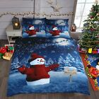 Xmas Festive Snowman Glitter Christmas Sparkle Bedding Set Quilt Cover Duvet Set