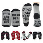 UK Women Men Unisex Beer Socks If You Can Read This Bring Me A Wine Beer Coffee