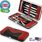 10 PCS Manicure / Pedicure Set Nail Clippers Set Kit Cuticle Grooming Case Steel