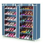 6 Tier Canvas Shoe Shelf Standing Storage Organiser Rack Holds 36 Pairs Cabinet