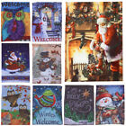 Merry Christmas Snowman Santa Welcome Spring Fall Garden Fla