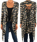 JA@ Funfash Plus Size Women Camo Green Kimono Braided Duster Cardigan Made USA