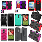 New KICKSTAND CASE SHELL+ BELT CLIP HOLSTER FOR KYOCERA DURAFORCE FOR LG Phone