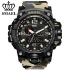 SMAEL Mens Military Watch Dual Display Digital Electronic Wristwatche Camouflage