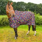 ***RAINBOW BUBBLE PRINT LIGHTWEIGHT WATERPROOF TURNOUT RUG HORSE PONY SIZES***
