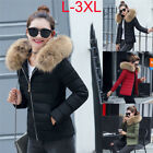 Winter Lady Down Cotton Parka Short Fur Collar Hooded Coat Quilted Jacket Cloth