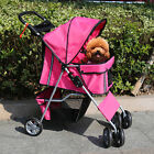 four wheel - Four Wheel Pet Stroller Cat & Dog Folding Cart Carrier Jogger Travel 3 Color