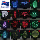Pokemon Star Wars 3D Acrylic LED Night Light 7 Color Table Desk Lamp Home Gift