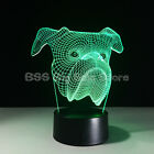 Cartoon puppy 3D colorful Gradient LED Lamp Table Illusion Touch GIFT KID LOVELY