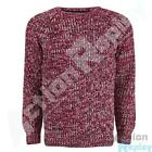 New Mens Brave Soul Kins Crew Neck Marl Cable Knitted Jumper