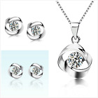UK Sterling Silver Jewellery Set Made with Swarovski Crystal Gift Boxed