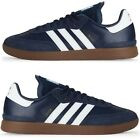 Adidas Mens NEW Samba ADV Skateboarding Shoes Leather Sneakers BlackBlue