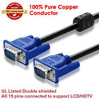 Gold-Plated VGA 15-Pin Male to 2 Dual Female Video Monitor Splitter Cable for PC