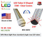 4/6/8/10/12-Pack 8FT, 72W, V-LED HO/R17D Rotational Connector, No Ballast T8 T12