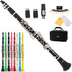 Mendini Black Blue Green Pink Purple Red White Yellow Bb Clarinet 2 Barrel