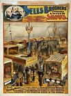 Vintage Circus Carnival Poster Zoo Elephants Living Beasts Art Re-Print A3 A4