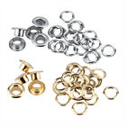 Durable 100pcs 5mm Hole Metal Eyelets with Grommet for Leather Craft Sewing DIY