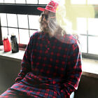 ByTheR Loose-fit Warm Woolen Fleece Classic Check Patterned Stylish Pique Shirts