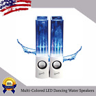 Multi-Colored LED Dancing Water Speakers w USB Cable + Aux Cord + Amplifier LOT