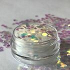 Chunky Glitter Mix 5ml Pot Eye Shadow Nail Face Tattoo Festival Club Cosmetic
