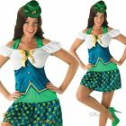 Ladies Sexy Leprechaun Irish St Patricks Day Fancy Dress Costume Outfit + Hat
