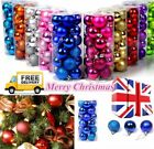 NEW YEAR 32Pcs Baubles Decor Balls Glitter Ornament Hanging Christmas Xmas Tree