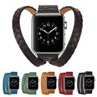 Genuine Leather Loop Wristwatch Band Bracelet Strap For Apple Watch Series 3 2 1