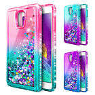For Samsung Galaxy Note 4   Glitter Liquid Bling Case Cover + Screen Protector