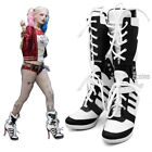 Halloween Cosplay Harley Quinn Boots High Heel Shoes Costume Suicide Squad Boots