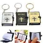 Religious Christian Cross Keyrings Cute Mini English HOLY BIBLE Keychains