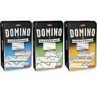 Tactic Domino Tins Double 6 9 12 With Coloured Pips