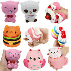 Jumbo Squishy Cute Owl Animals Bread Buns Cream Scented Slow Rising Kid Toys lot