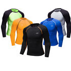 Men's Compression Tops Athletic Running Cycling Jogging Plain Under Base Layers