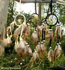 NATURAL DREAM CATCHER Wall Hanging Ornament Indian Home Office Black Beige Brown