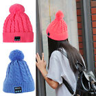 Women's Warm Warm Knitted Hat Bluetooth Headphone Handsfree Stero Music Cap Hat